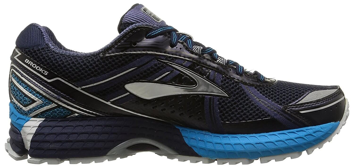 Side view of the Brooks Adrenaline ASR 12 GTX