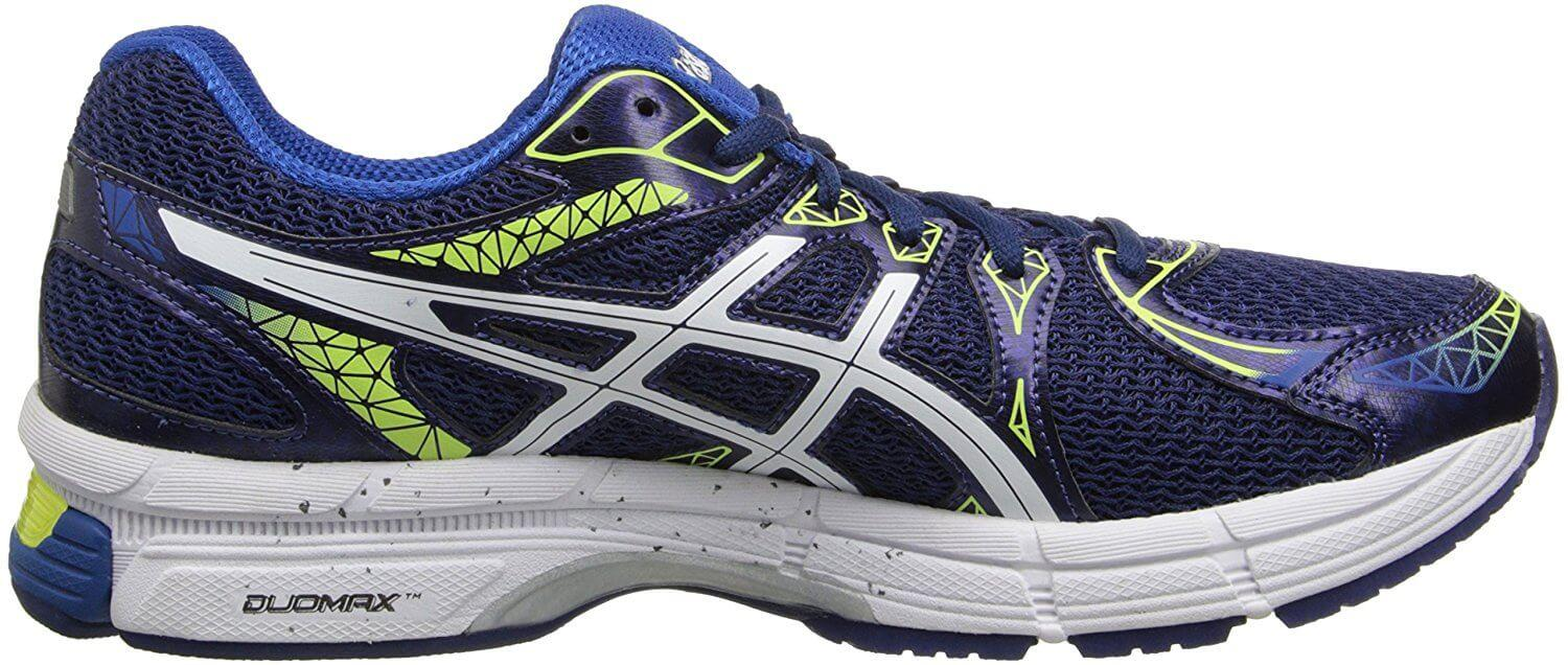 The ASICS Gel Exalt 2 features gel cushioning in the rear of the midsole.