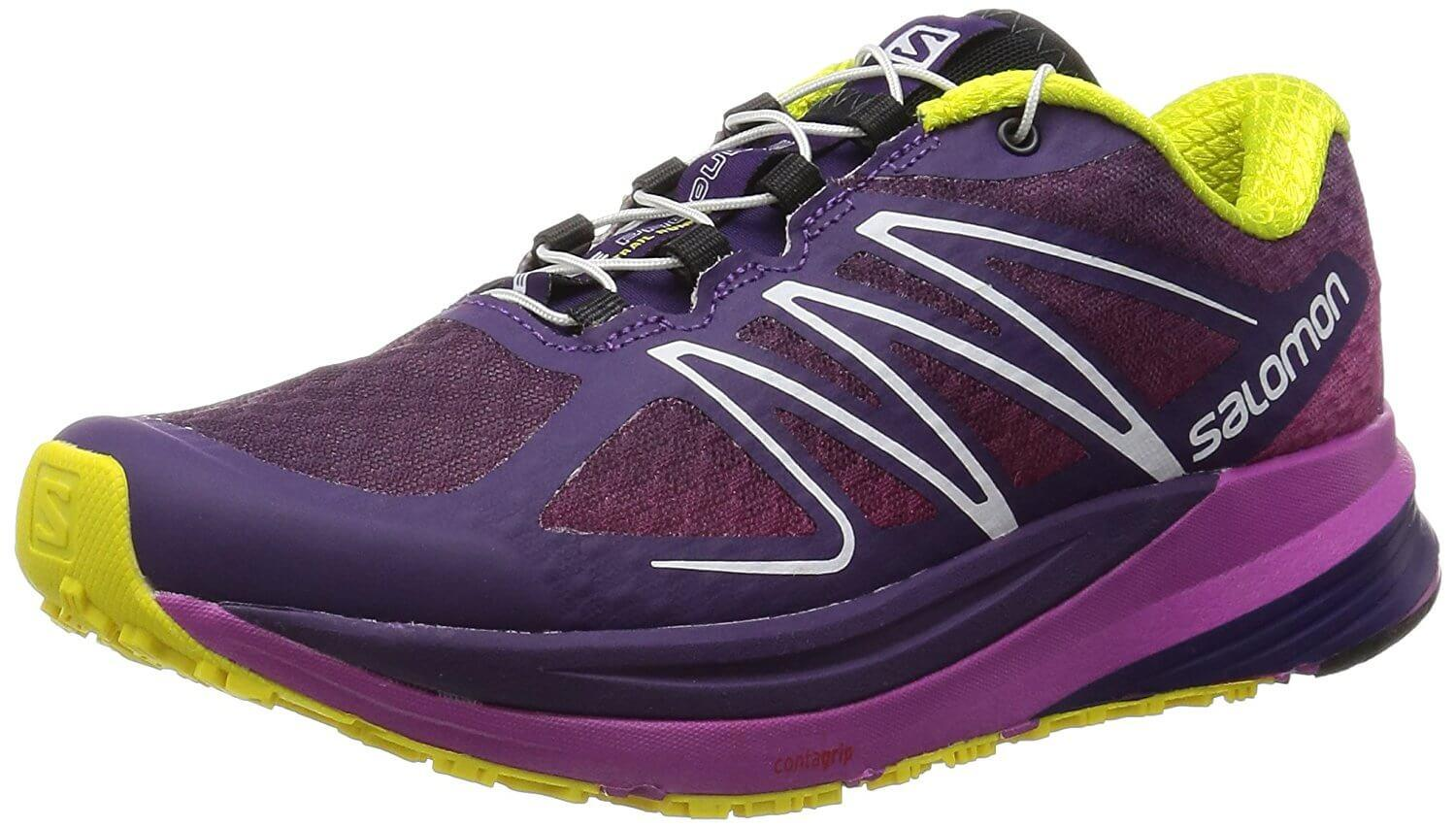 A three quarter view of the Salomon Sense ProPulse trail running shoe
