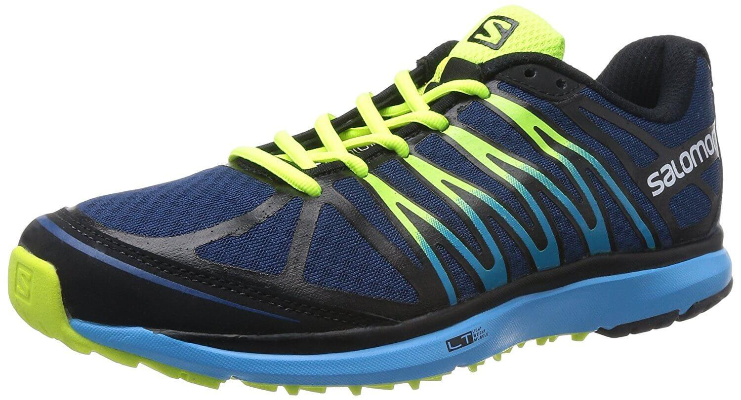A three quarter view of the Salomon X Tour trail running shoe
