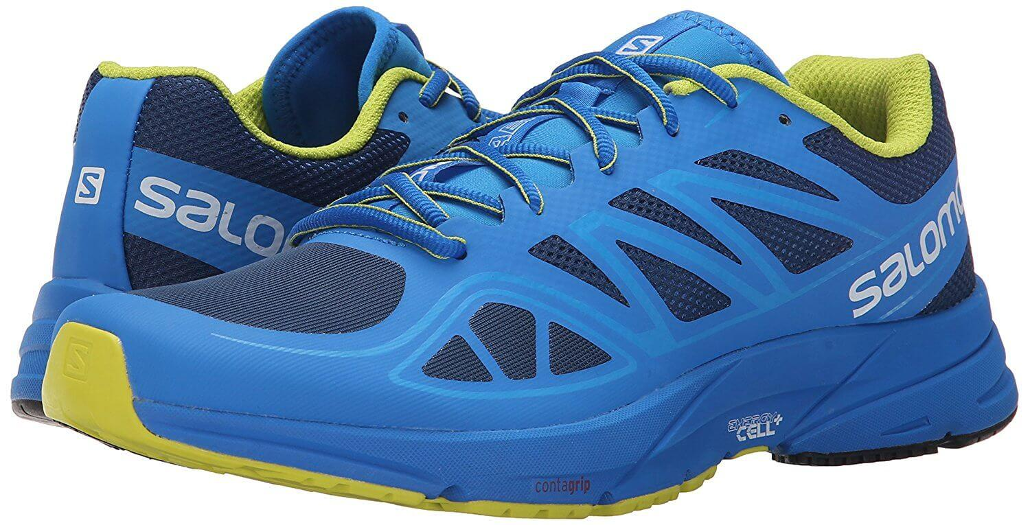 A pair of Salomon Sonic Aero shoes