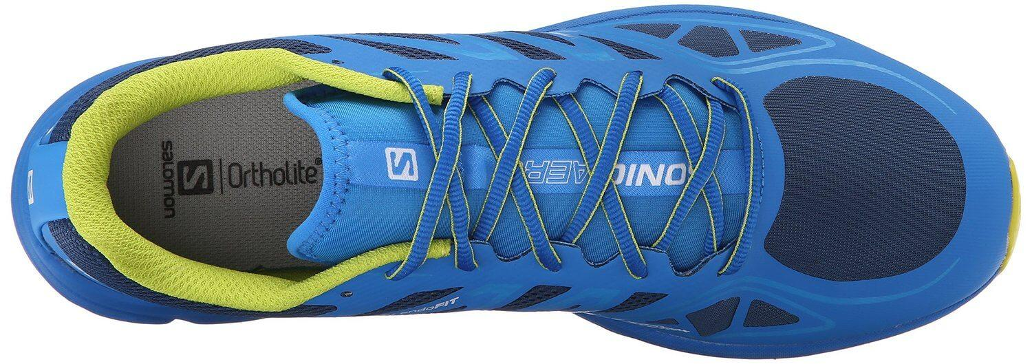 A top view of the Salomon Sonic Aero