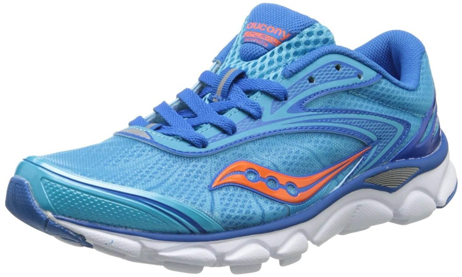 A three quarter view of the Saucony Virrata 2 running shoe