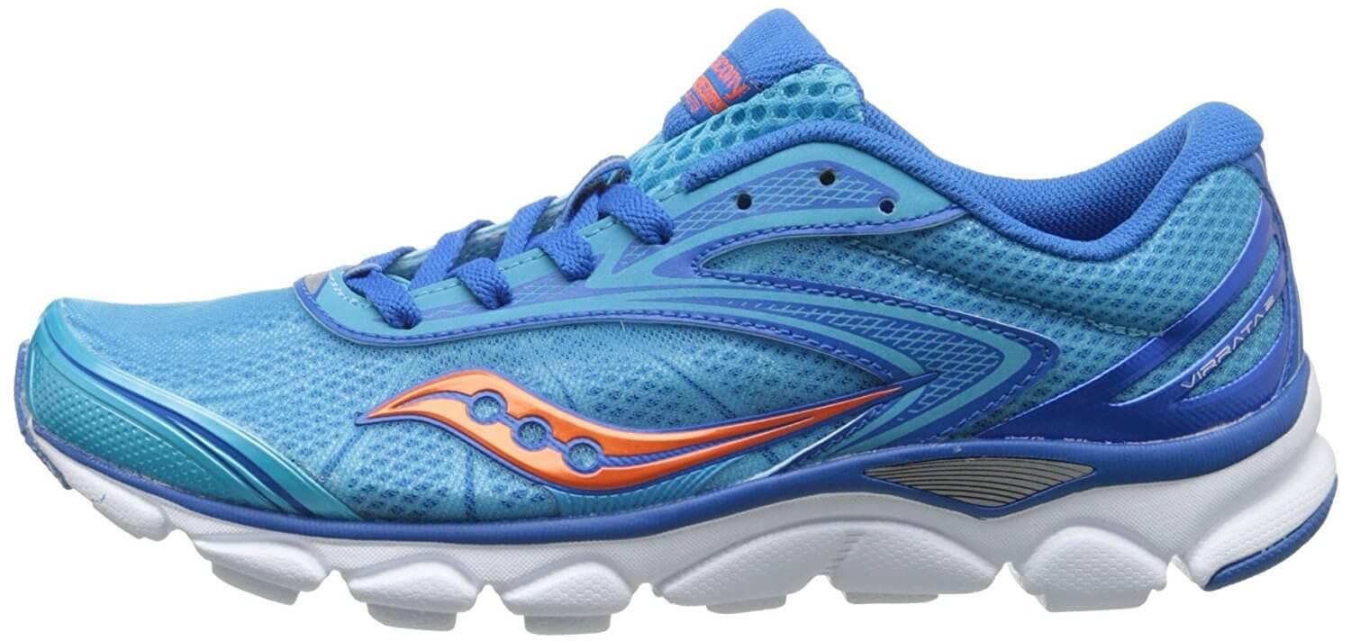 A lateral side view of the Saucony Virrata 2 running shoe