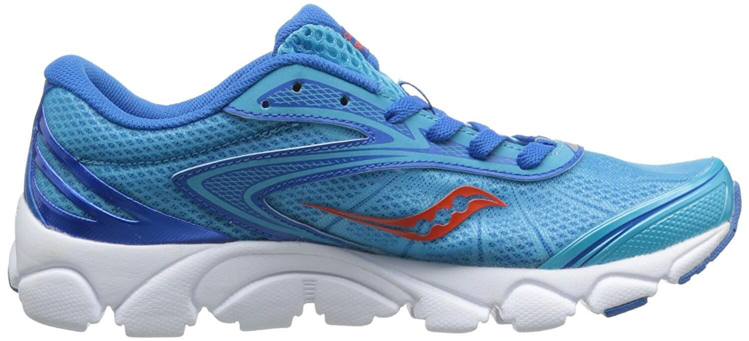 A medial side view of the Saucony Virrata 2 running shoe