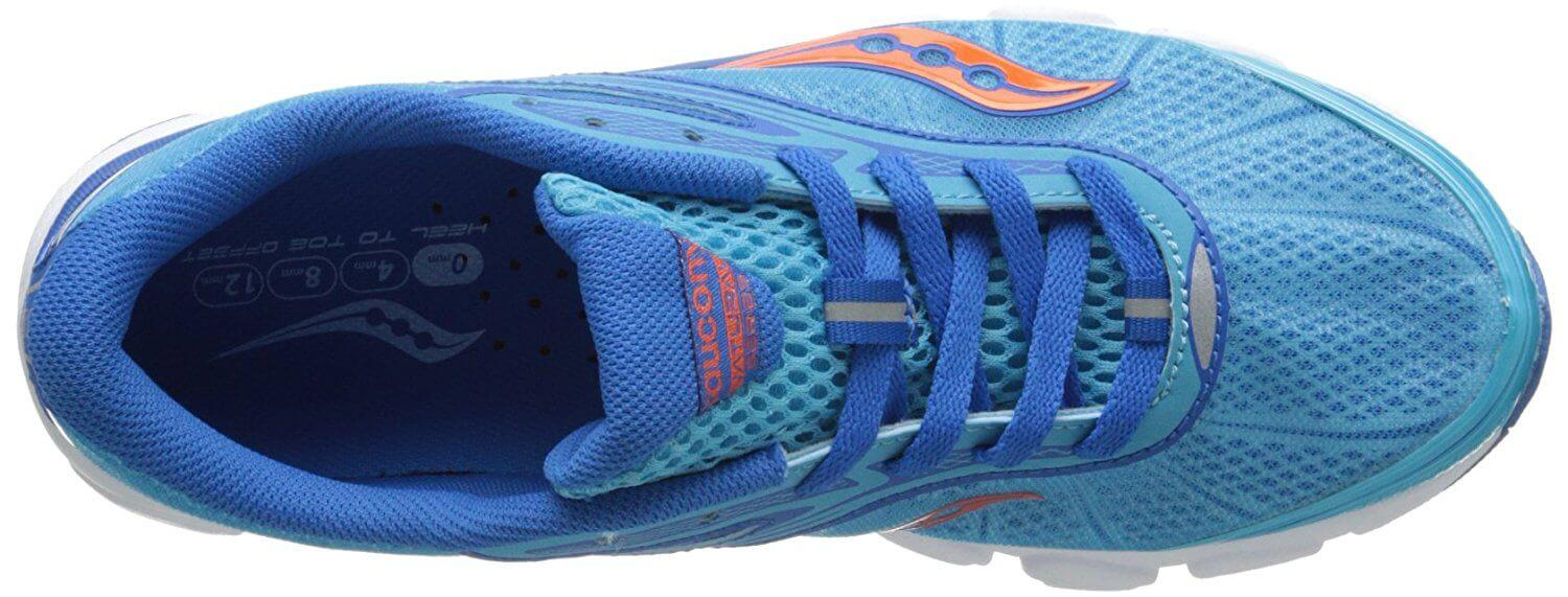 A top view of the Saucony Virrata 2 running shoe