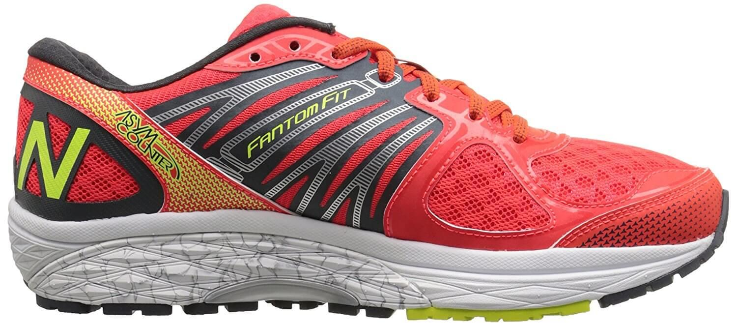 The New Balance 1260 v5 features a blown rubber outsole