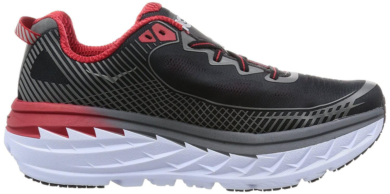 Incredibly lightweight foam midsole of the hoka one one bondi 5