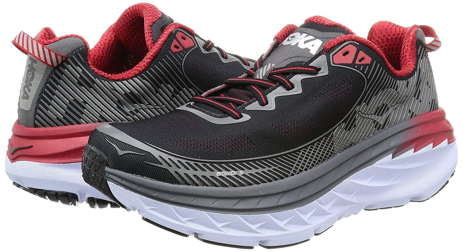 Sleek design and colors of the hoka one one bondi 5