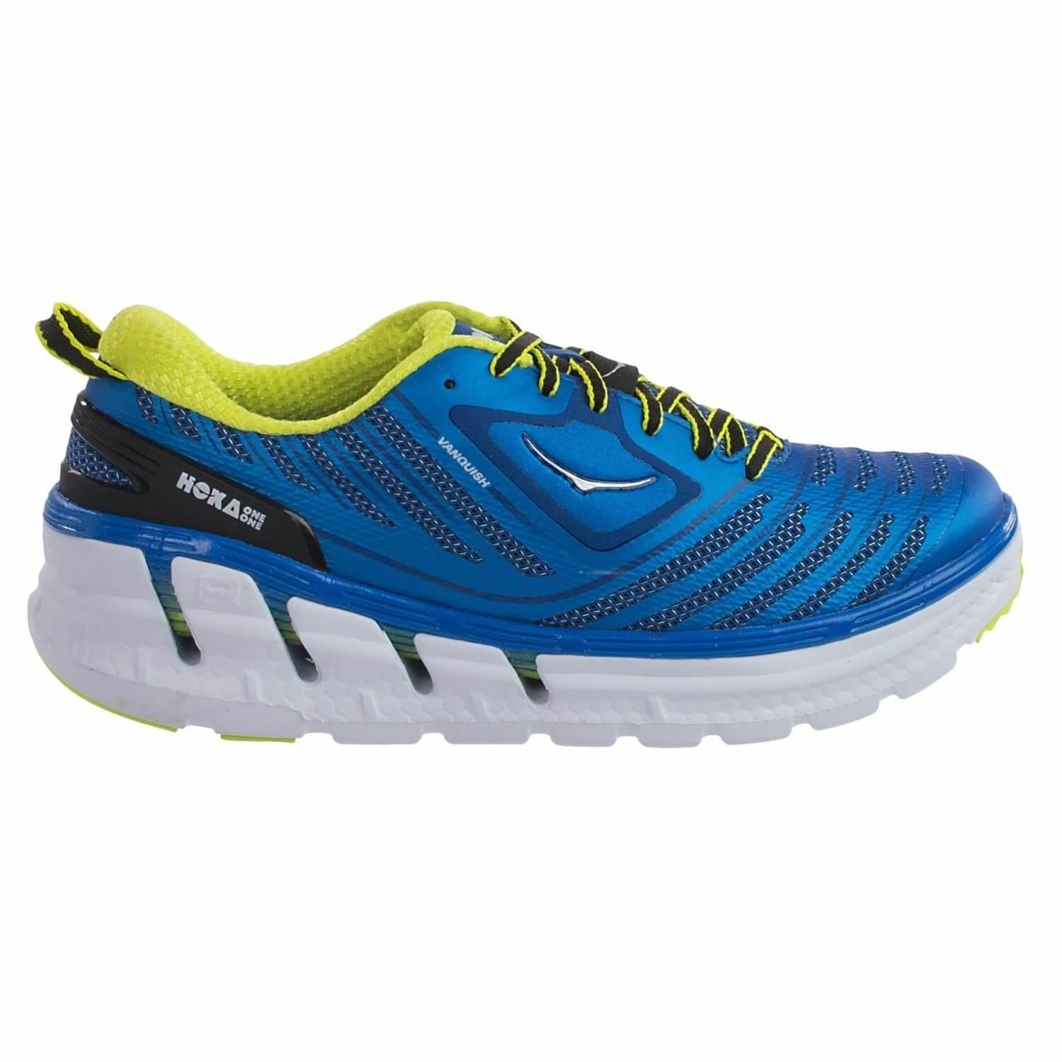 Hoka One One Vanquish left to right