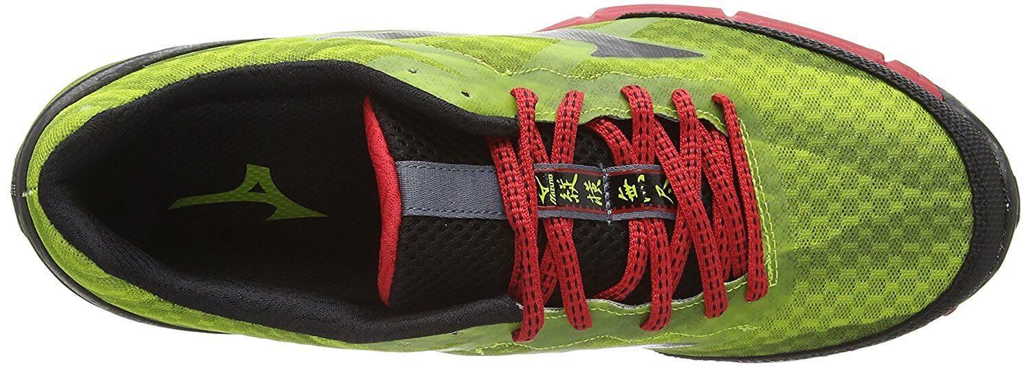 Breathable Upper of the mizuno WAve Mujin