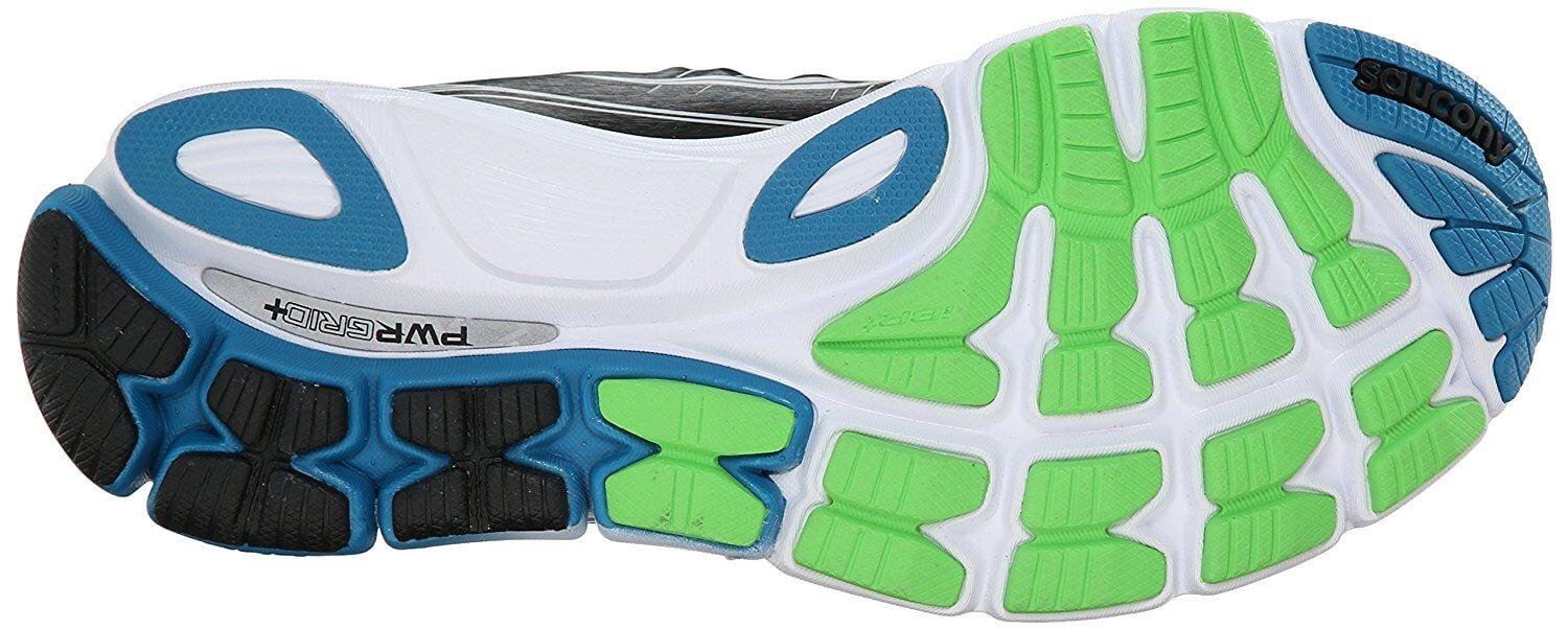 The Saucony Triumph ISO's strong and durable lightweight rubber outsole.