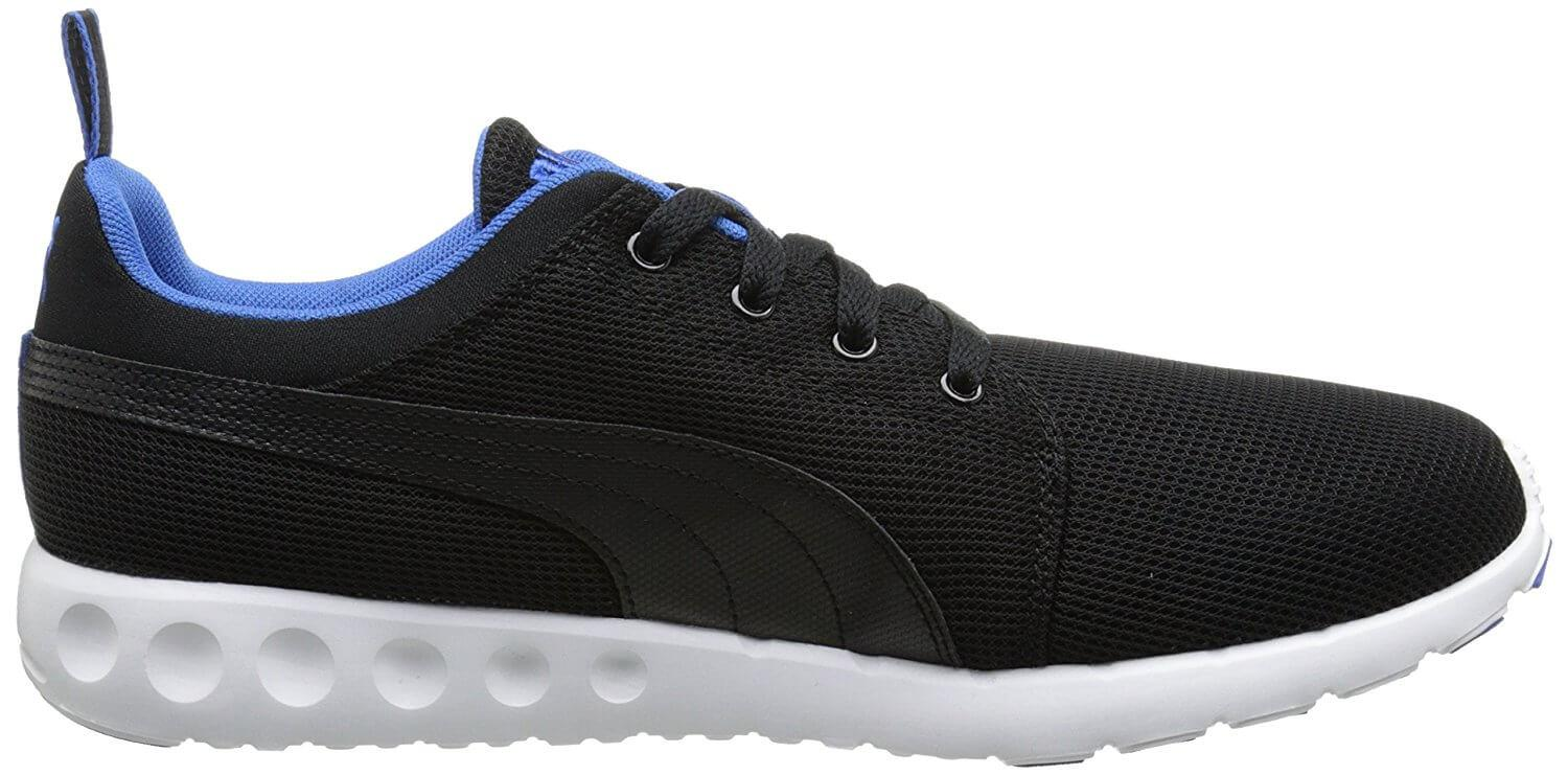 d6a4222e91e9 ... Stylish design of the Puma Carson Runner in black  Puma Carson Runner  is an affordable daily training shoe
