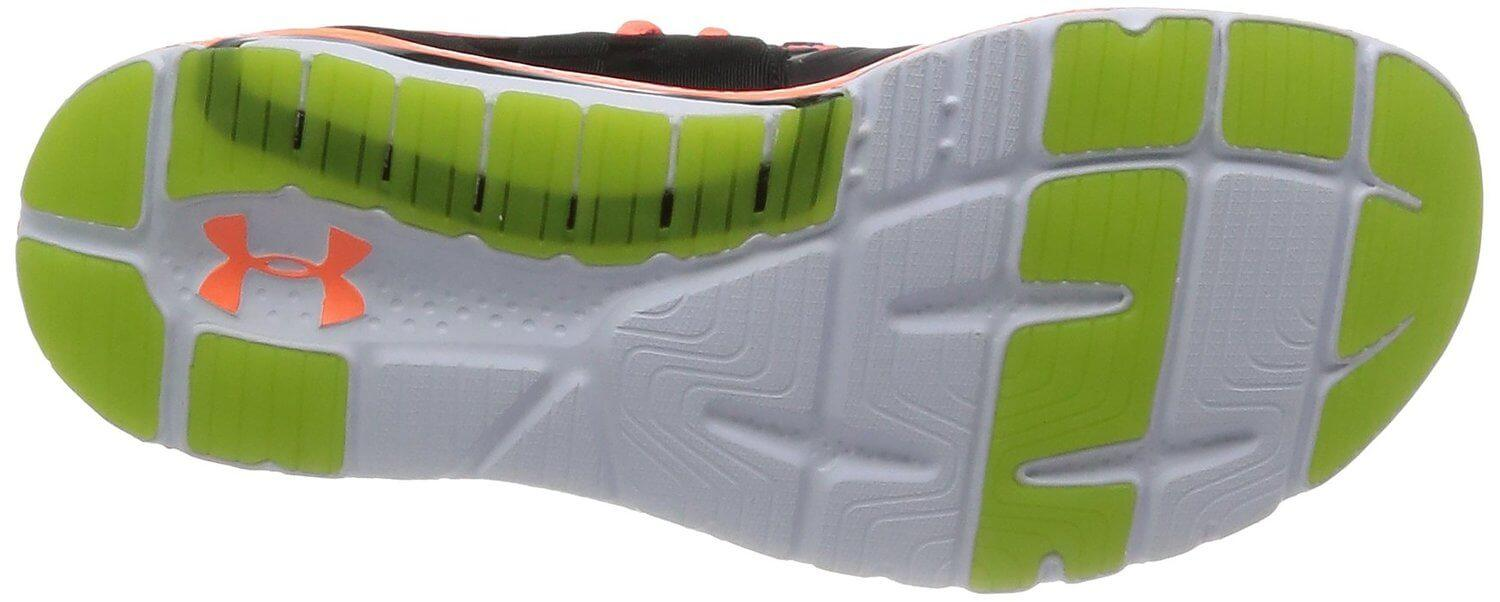 Under Armour Charge RC 2's outsole is both durable and flexible