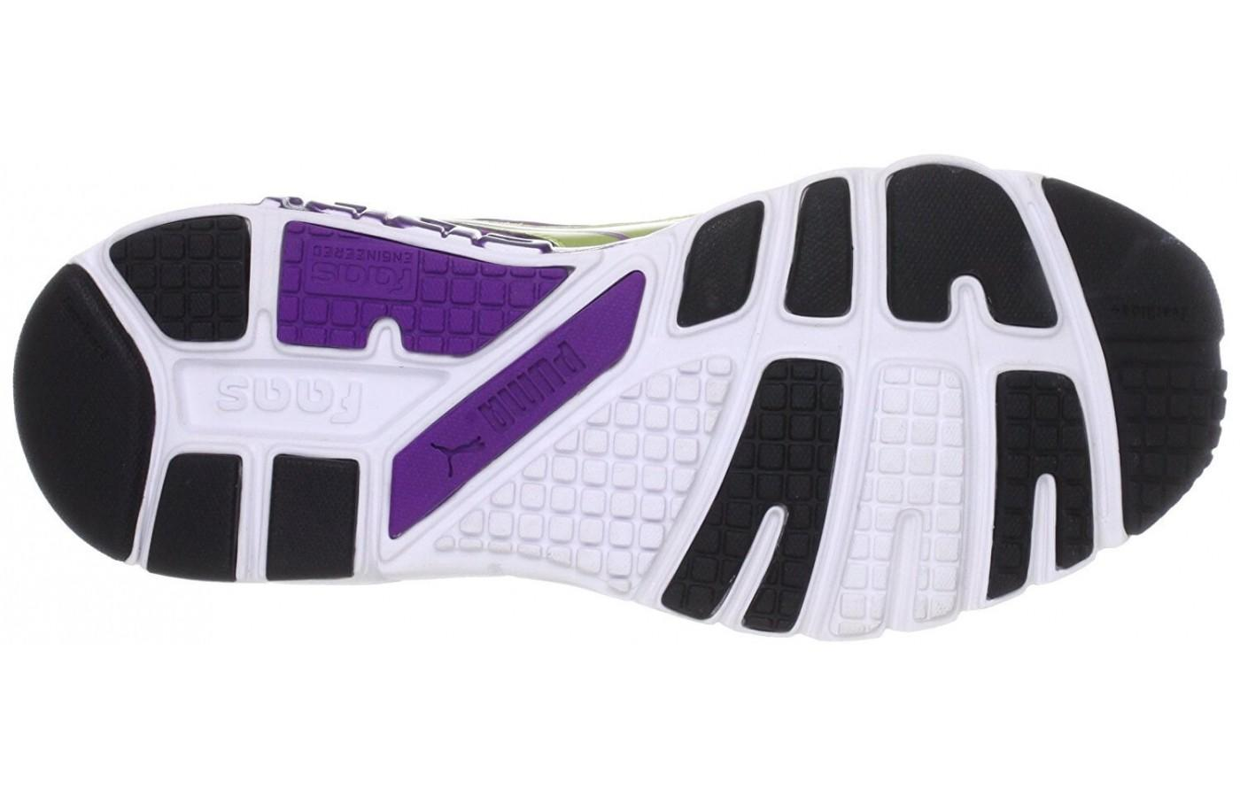 The outsole. Visually pleasing but be mindful whilst running in the rain