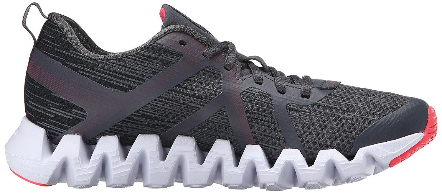 Zigzag style outsole/midsole of the Reebok ZigTech Squared 2.0