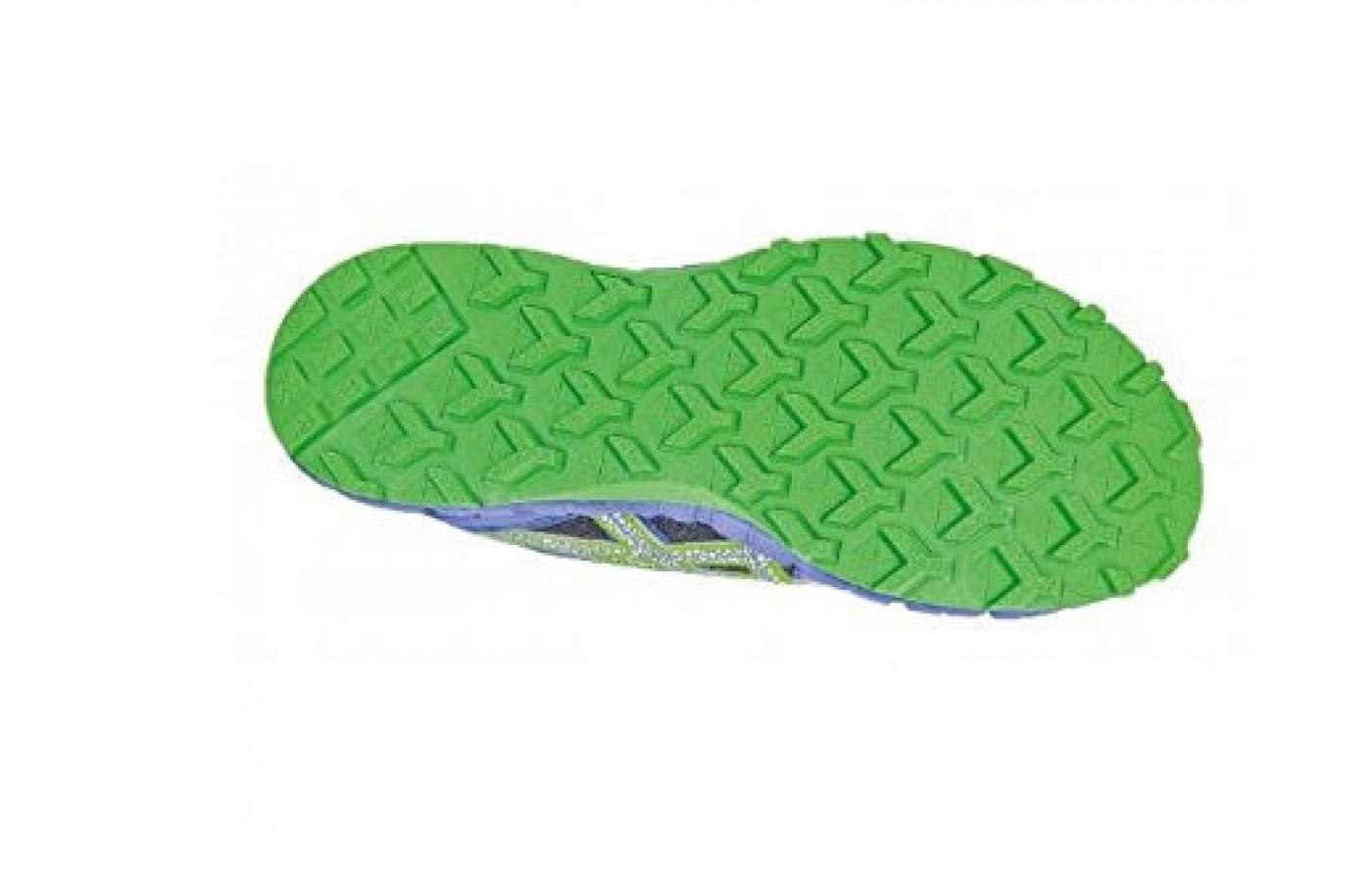 Lugged outsole has great traction for trail runs