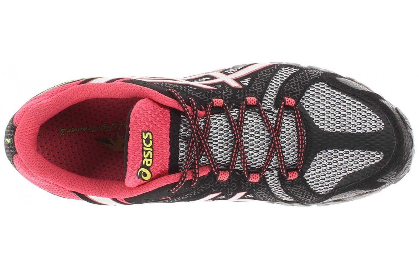 the upper of the Asics Gel FujiTrainer 3 has lots of open mesh for breathability