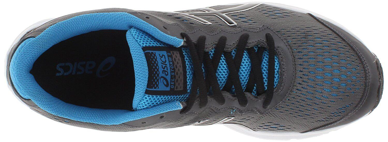 Asics Gel Storm 2 padded tongue protects from lacing tightness