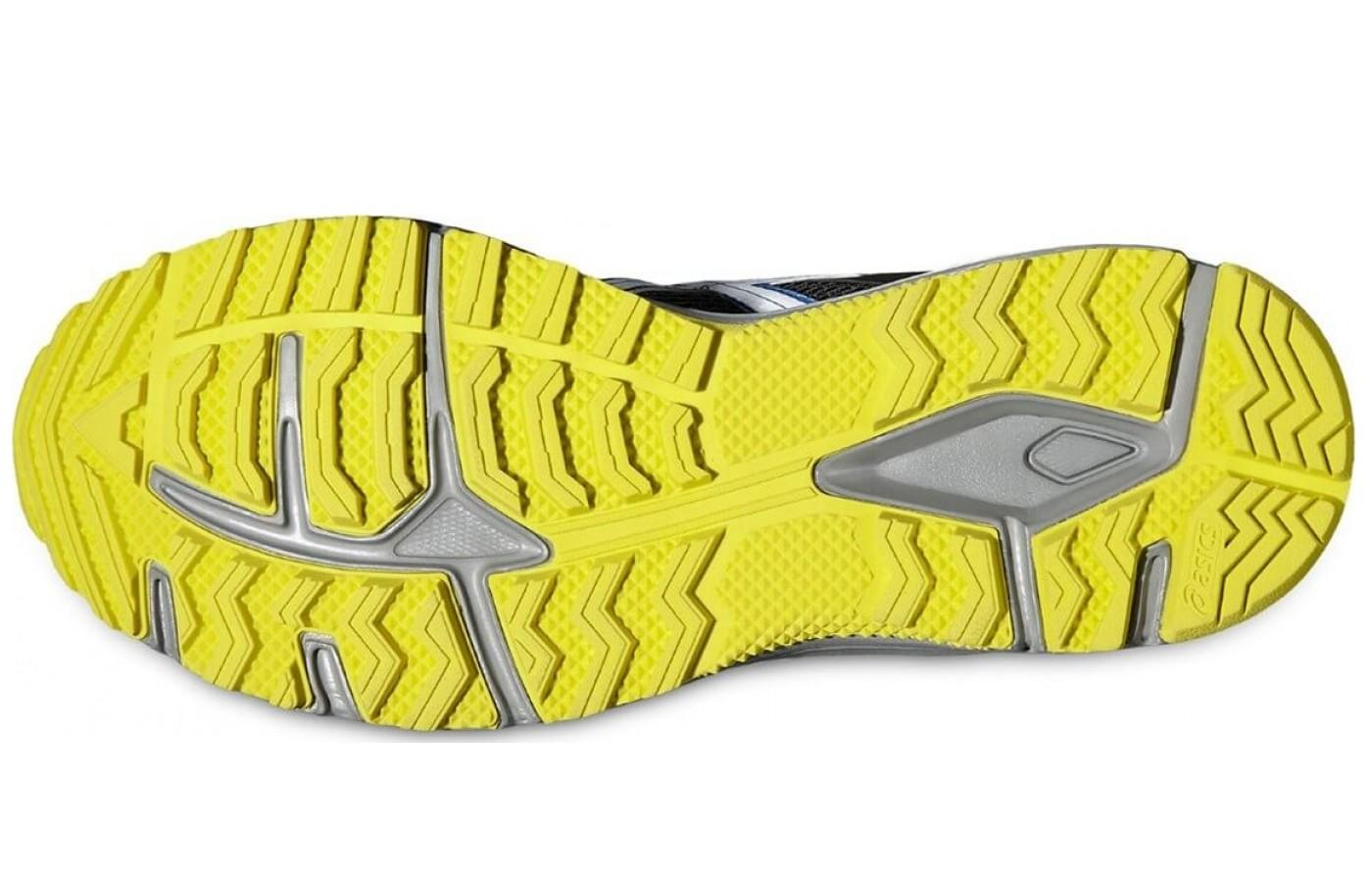 the Asics Gel Tambora 5 has a Trail Specific Outsole with reversed lugs for better traction