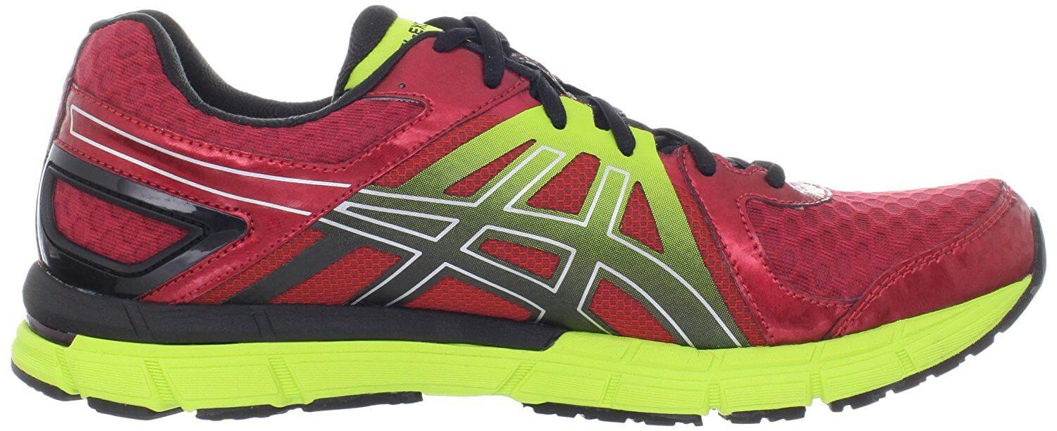 Bright colors increase visibility of the Asics Gel Excel33