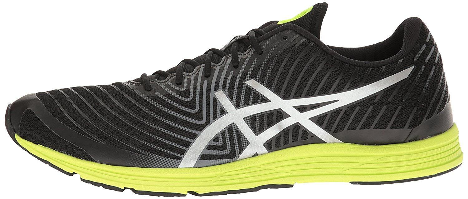 Side of Asics Gel Hyper Tri 3 shows cushioned midsole
