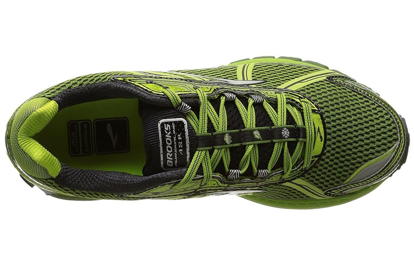 the Brooks Adrenaline ASR 12 is has a water repellent upper