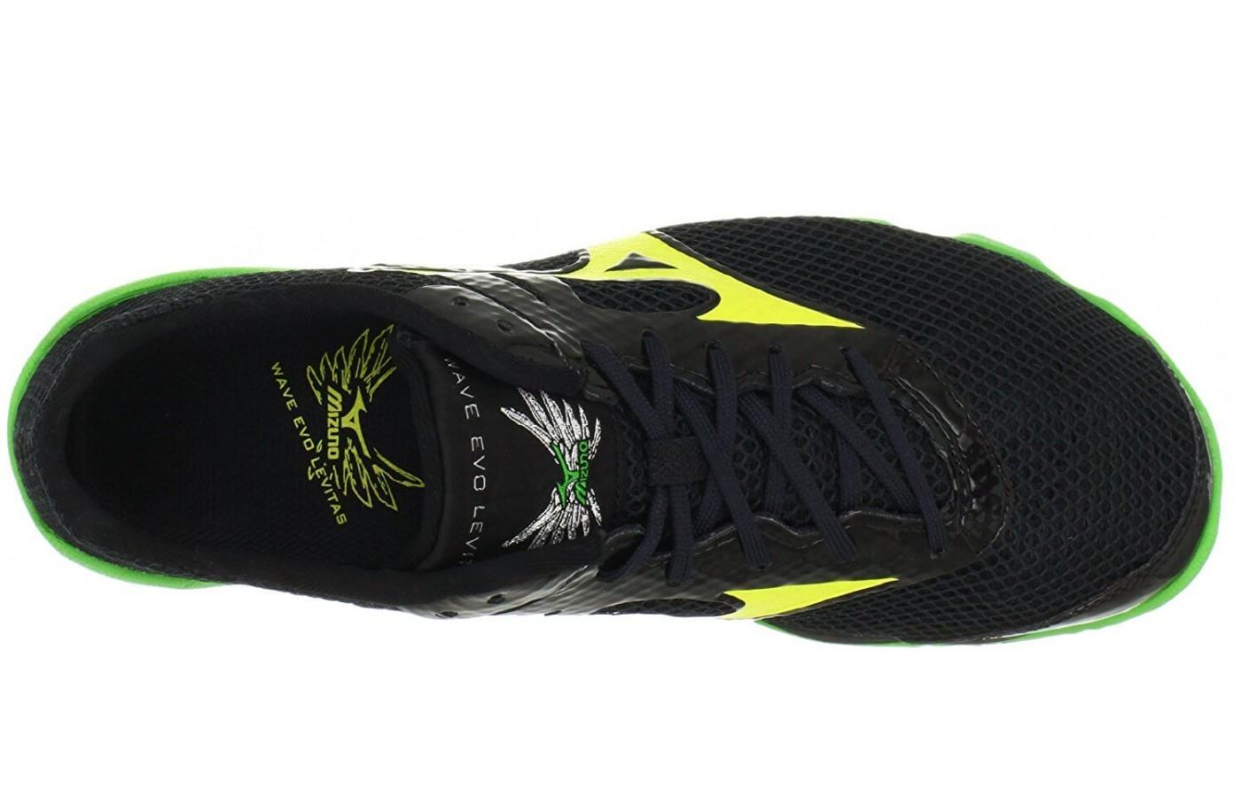 Mizuno Wave Evo Levitas has a super breathable upper