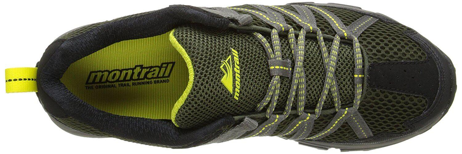 Secure lacing system and protective upper of the Montrail Mountain Masochist III