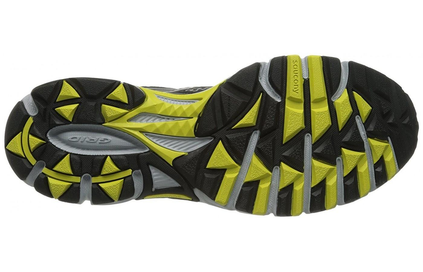 the Saucony Cohesion TR 8 has triangular lugs that give it good traction on many types of surfaces