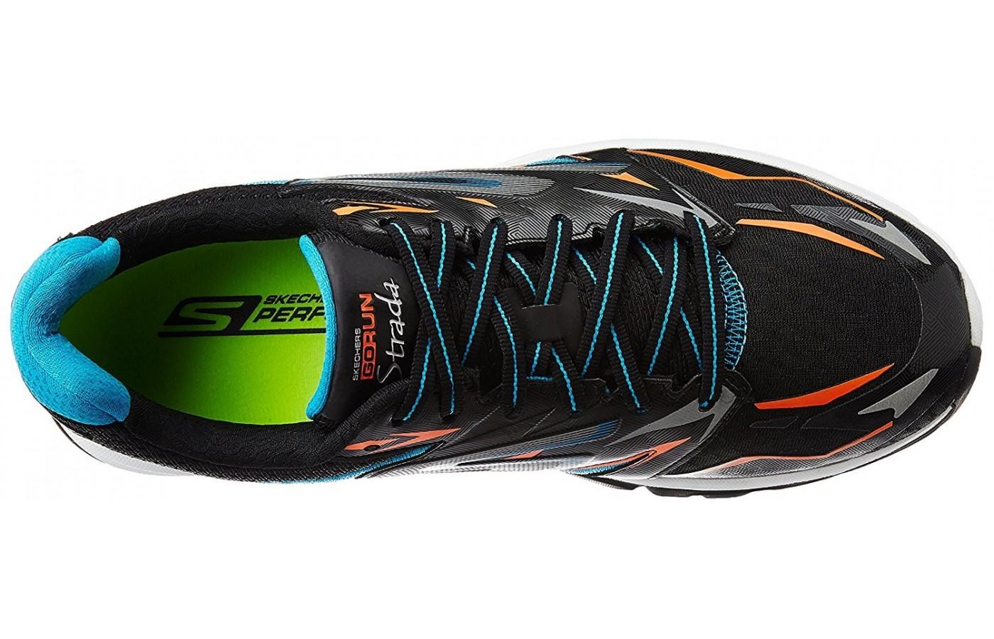 the Skechers GOrun Strada has a supportive and padded upper