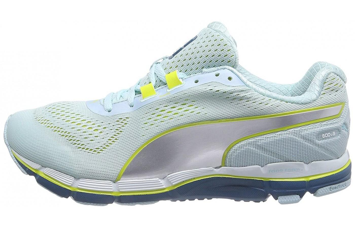 The Puma Faas 600 v3 features a dual-density foam midsole construction