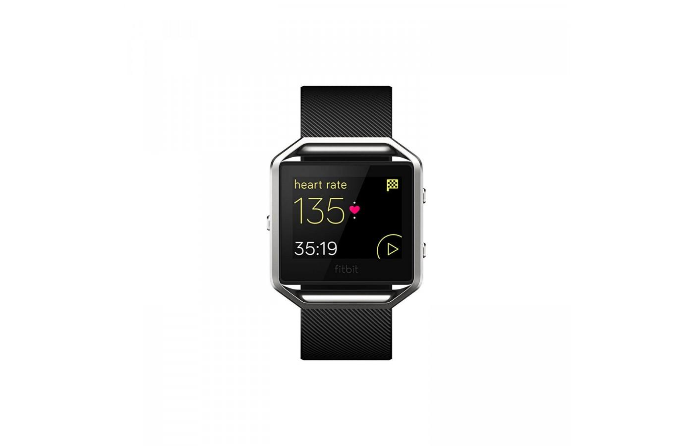 Fitbit Blaze has an easy to read screen and can be easily navigated through the touchscreen