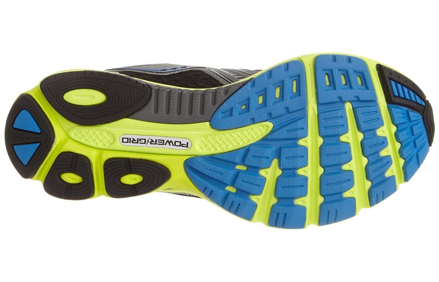 Saucony Cortana 2 outsole with good traction for roads