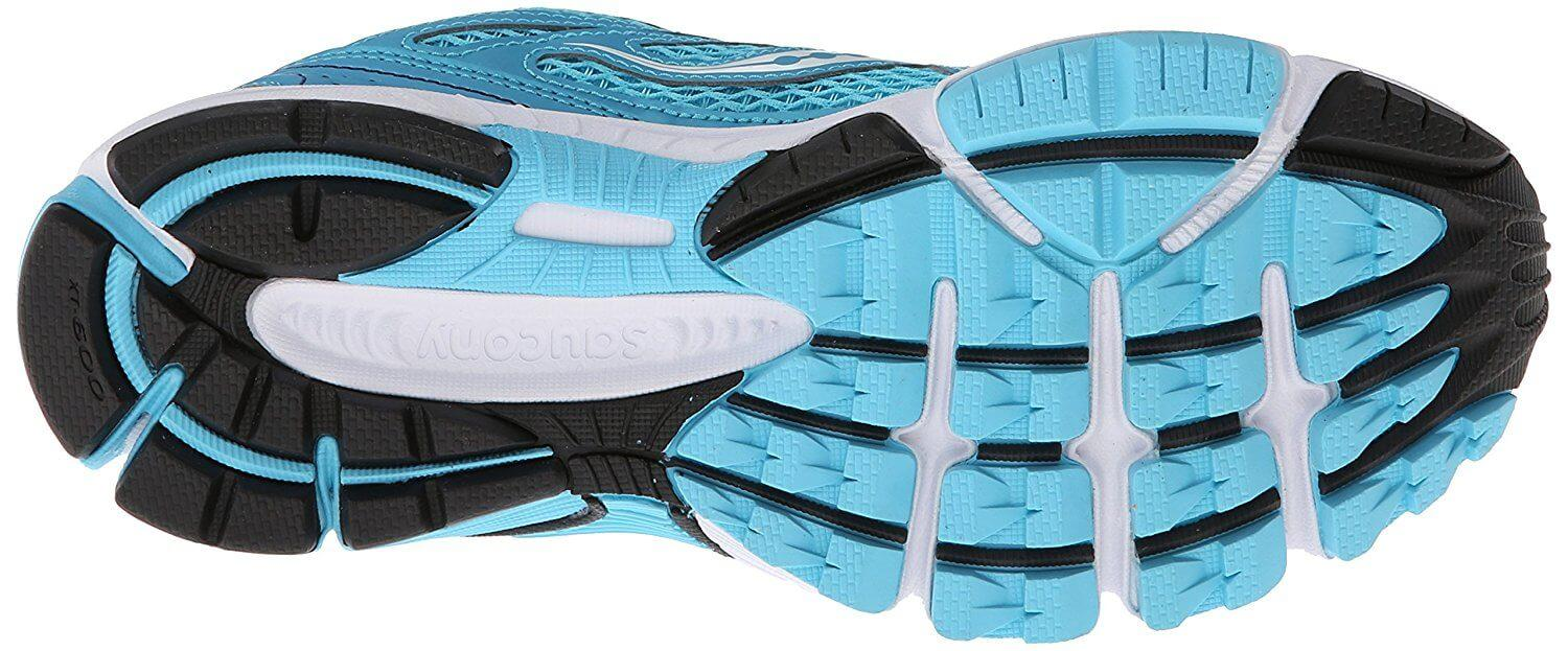 The Saucony Ignition 5 outsole provides good traction on the road