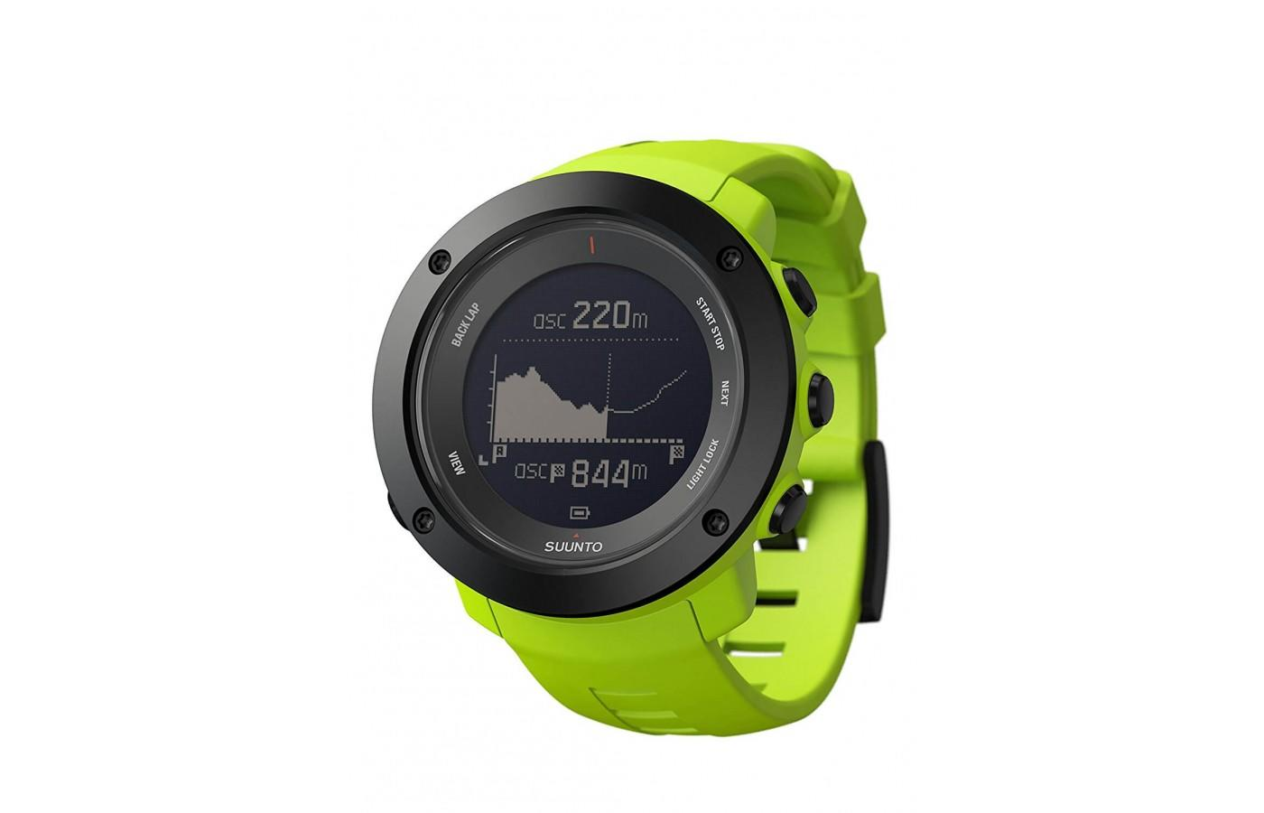 The Suunto Ambit 3 peak also comes in a flashy green