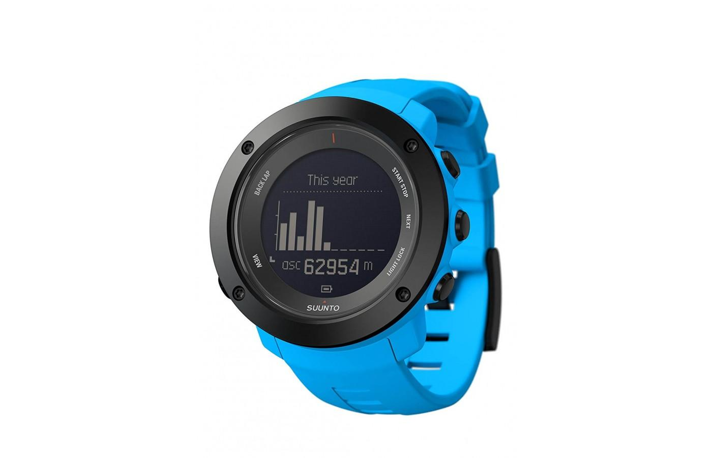 The Suunto Ambit 3 peak also comes in this bright blue