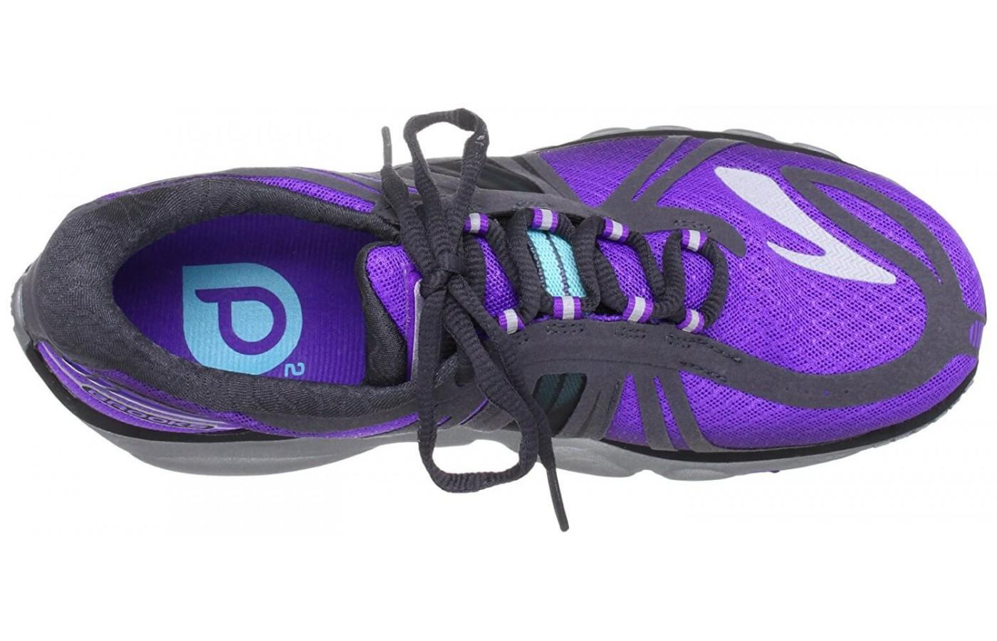 Brooks PureCadence 2 features asymmetrical lacing