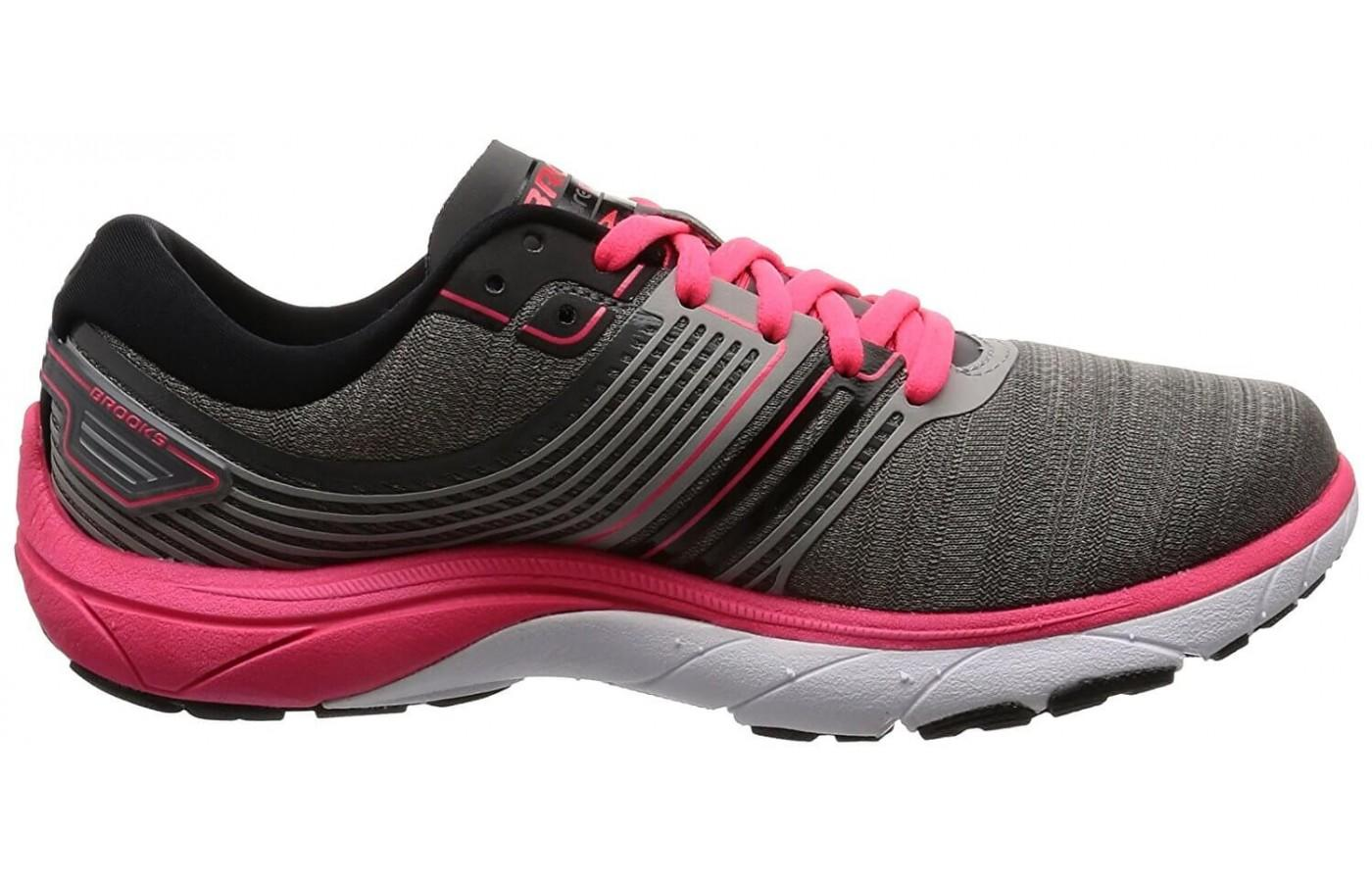 Pink and grey version of the Brooks PureCadence 6