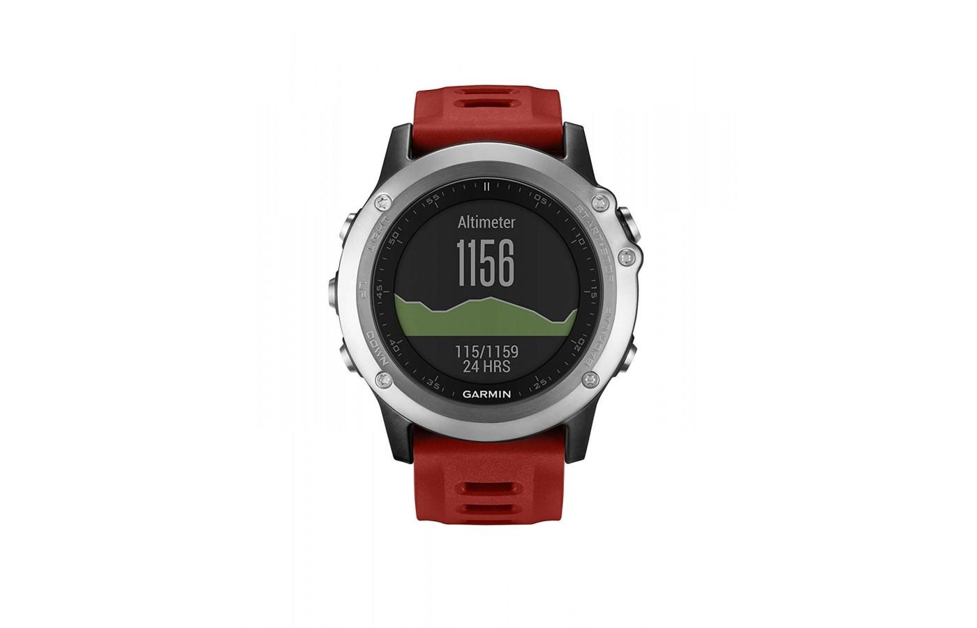 even in sunlight, the face of the Garmin fenix 3 is easy to read