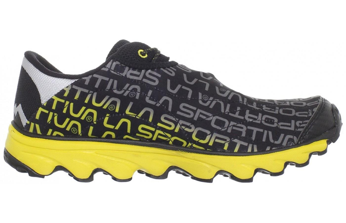 La Sportiva bold yellow and black coloring