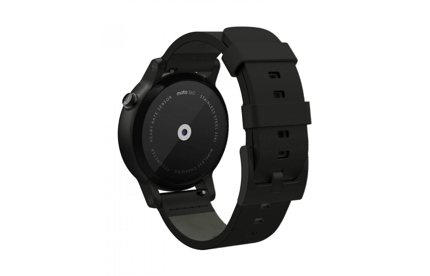 the Motorola Moto 360 (2nd Gen) has a built-in optical heart rate monitor