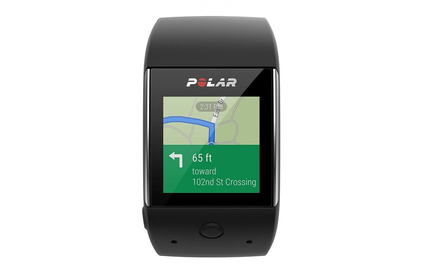 the Polar M600 has a highly accurate built-in GPS