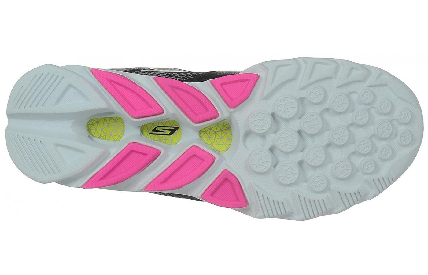 Skechers GoRun Vortex features a carbon rubber outsole