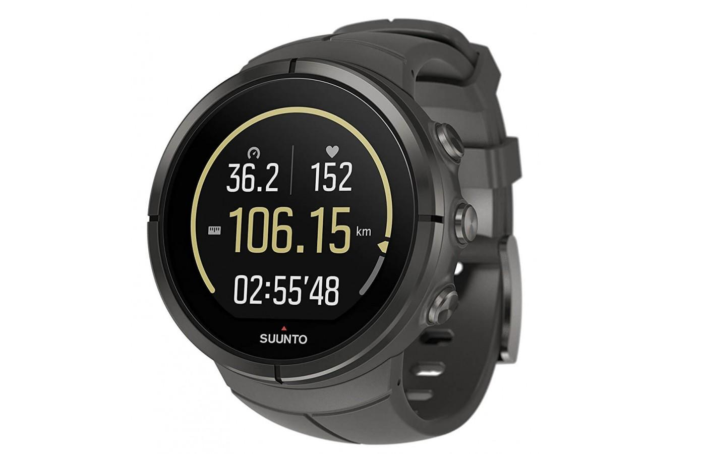 The Suunto Spartan Ultra features a full-color touch screen