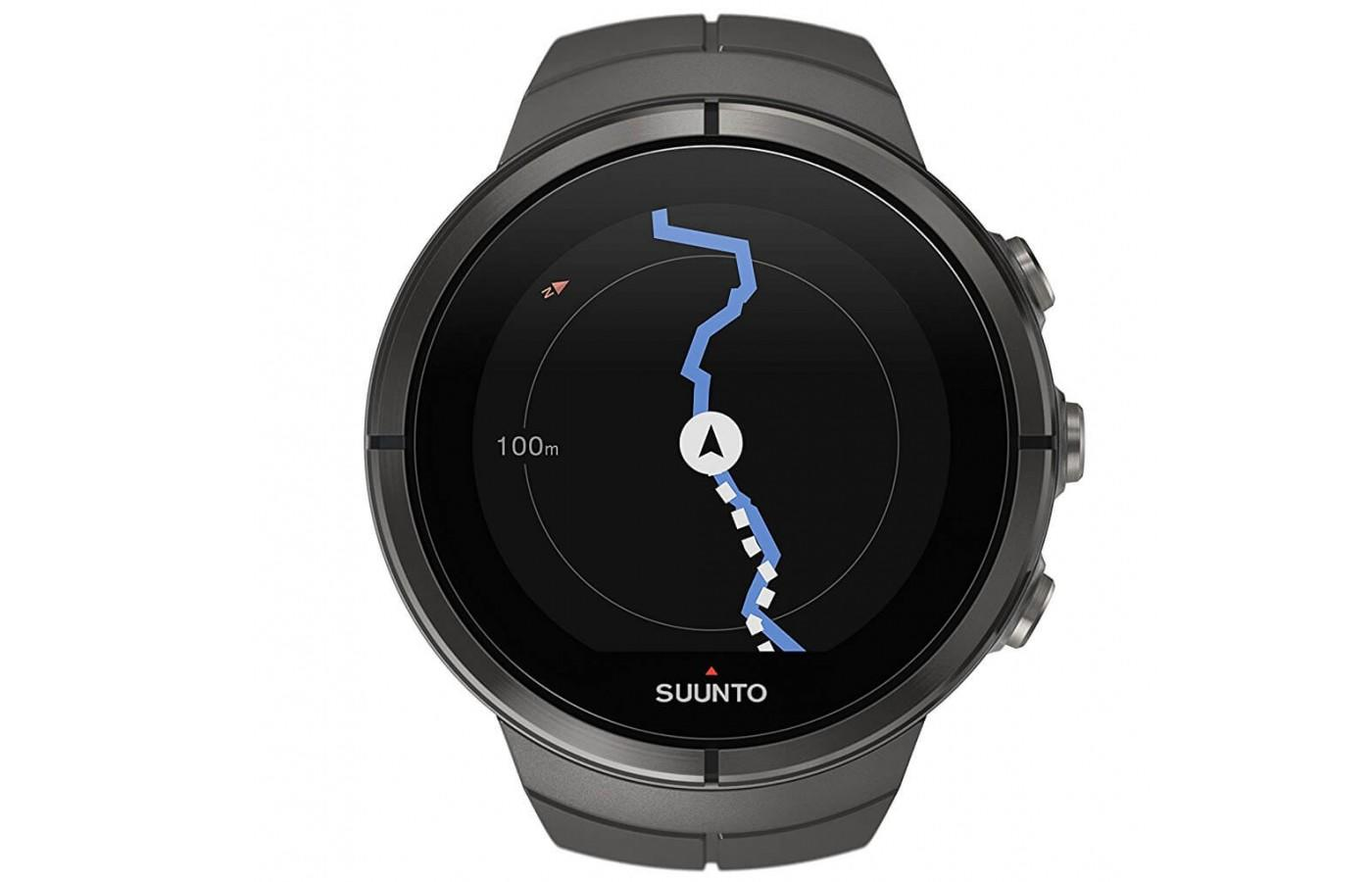 The Suunto Spartan Ultra's GPS mapping system is easy to see and follow