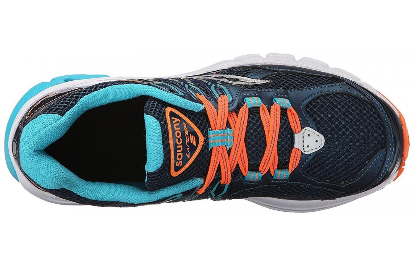 Saucony Lancer 2 features stretchy laces