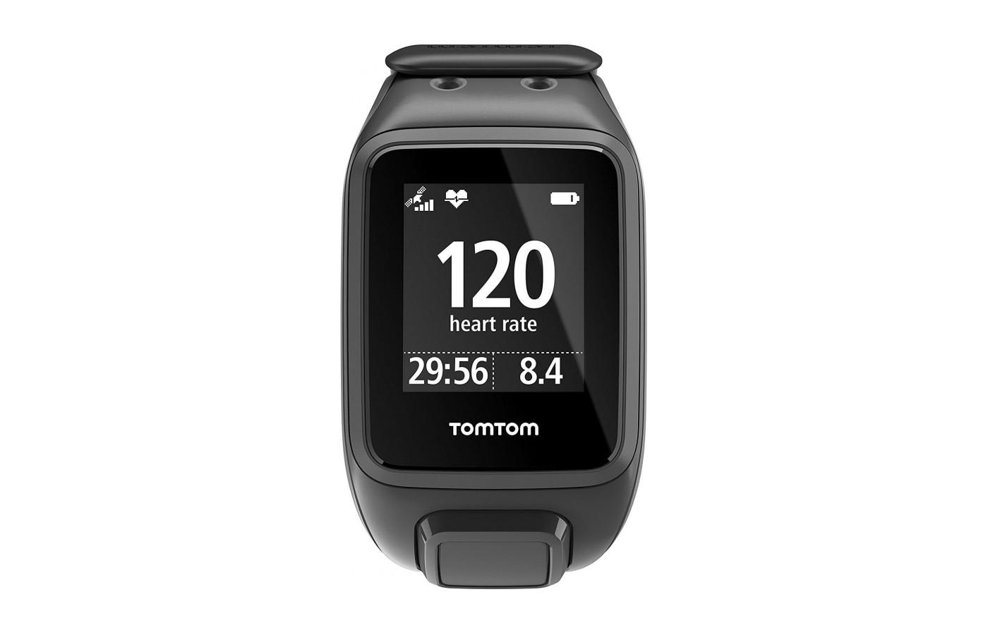 Easy to read face of the TomTom Spark Cardio
