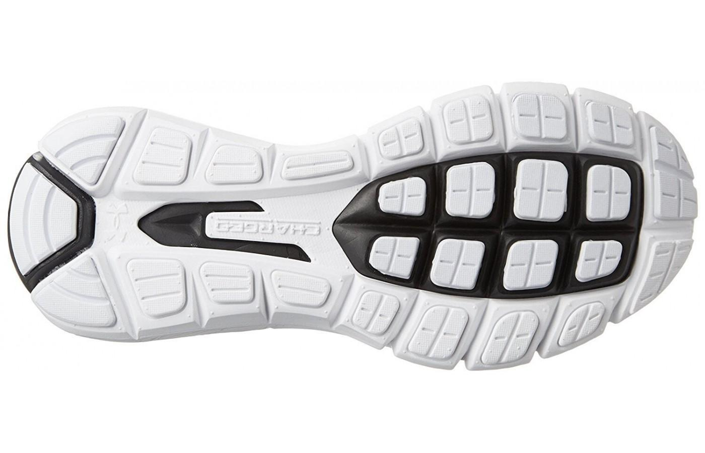 the outsole of the Under Armour SpeedForm Fortis Vent