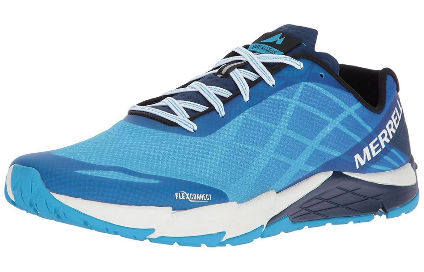 The Merrel Bare Access Flex is a zero drop, all terrain shoe.